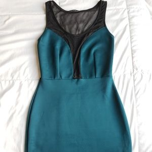 Dresses & Skirts - Jade colored form fitting dress